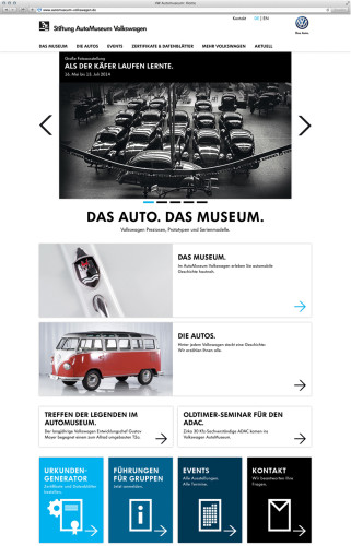 Neuer Web-Auftritt des AutoMuseum Volkswagen