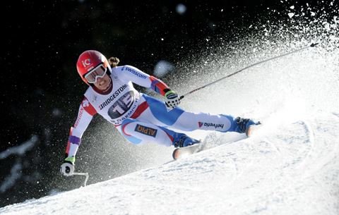 SKI WORLD CUP 2014/2015 -  - Dominique Gisin (SUI)   , Alpine World  Cup  Women Super G  -   -  Garmisch Partenkirchen, Germany, Saturday , March. 8, 2015. (Pier Marco Tacca/Pentaphoto)